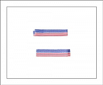 American Flag Simple Hair Clippies