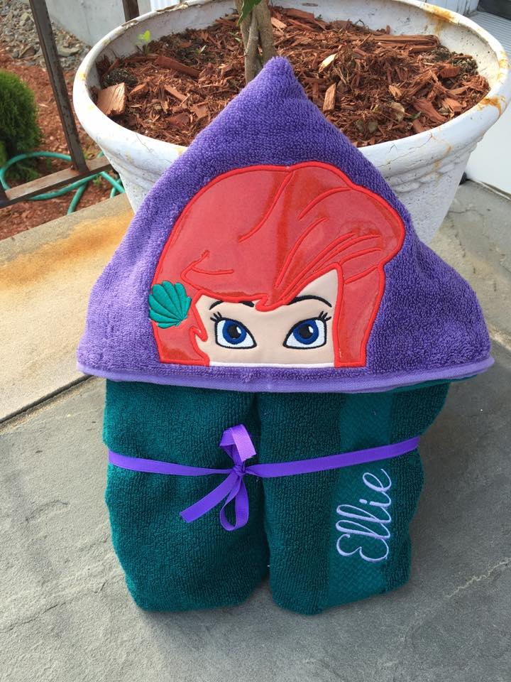 Mermaid Princess Hooded Towel