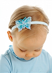 Baby Blue Butterfly Newborn Headbands