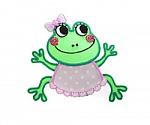 Baby Girl Frog Hair Clippy