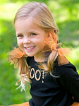 Black and Orange Tutu Hair Bow