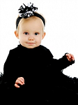 Black and White Stripes Korker Baby Headband