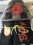 Monster Truck Hooded Towel