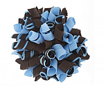 Blue and Brown Korker Bows