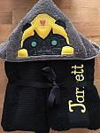 Yellow Bot Hooded Towel