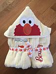 Red Monster Hooded Towel