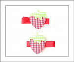 Gingham Strawberry Hair Clippies