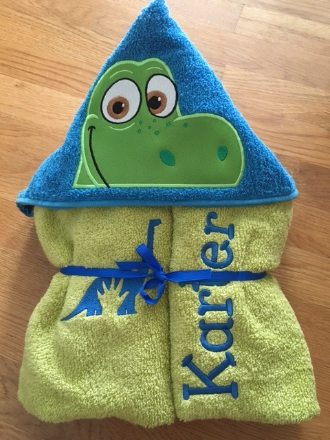 Good Dino Hooded Towel