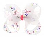 Happy Birthday Toddler Girl Hair Bows