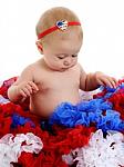 Heart Flag Newborn Headbands