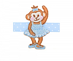 Monkey Ballerina Hair Clippy
