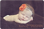 Orange Ranuculus Flower Skinny Headband