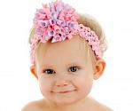 Pastel Korker Bow Baby Crochet Headband