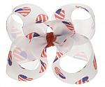 Patriotic Hearts Toddler Girl Hair Bows