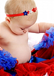Patriotic Stars Newborn Headbands