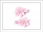 Pearl Flower Hair Clippies