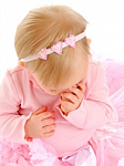 Pink Sequin Hearts Newborn Headbands