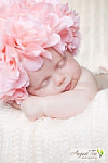 Pink and White Silk Flower Hat