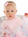 Pink Swiss Dots Heart Newborn Headbands