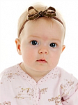 Pink and Brown Saddle Stitch Newborn Headbands