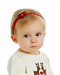 Pretty Poinsetta Newborn Headbands