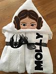 Starship Princess Hooded Towels
