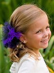 Purple and Black Tutu Hair Bow