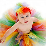 Rainbow Tutu Baby Headband