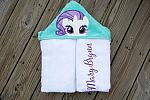 White Horse Hooded Towel