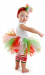 Red, Green and White Tutu
