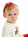 Red Saddle Stitch Newborn Headbands