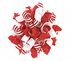 Red and White Stripes Korker Hair Bows