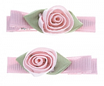 Rose Hair Clippies