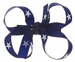 Royal Blue Patriotic Stars Baby Hair Bows