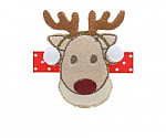 Rudolph Ear Muff Hair Clippy
