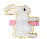 Sequin Easter Bunny Hair Clippy