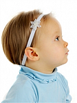 Sequin Snowflakes Newborn Headbands