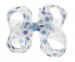 Snowflakes Toddler Girl Hair Bows