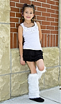 White Faux Fur Legwarmers