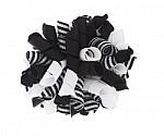 White and Black Stripes Korker Bows