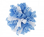 White and Blue Stripes Korker Bows