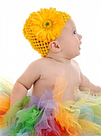 Yellow Gerber Daisy Crochet Baby Hat
