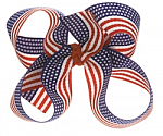 American Flag Toddler Girl Hair Bows