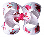 Birthday Cupcake Toddler Girl Hair Bows