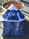Blue Dog Hooded Towel