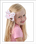 Colored Polka Dots Big Girl Hair Bows