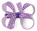 Gingham Baby Girl Hair Bows