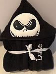 Skeleton Boy Hooded Towel