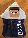 Mining Steve Hooded Towel