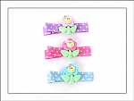 Pastel Flowers Hair Clippies
